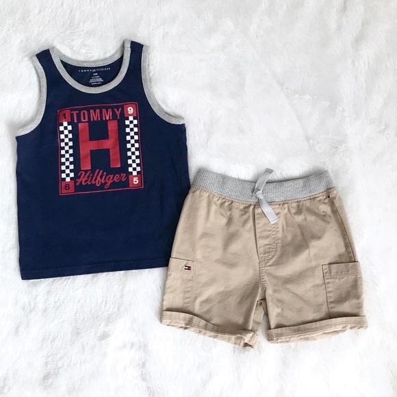 Tommy Hilfiger Boys 2 Pieces Tank Top Shorts Set